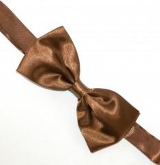 Zsorzsett szatén csokornyakkendő - Aranybarna