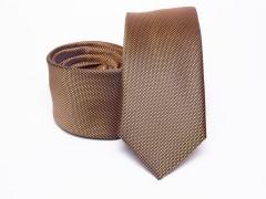 Prémium selyem selyem nyakkendő - Barna Selyem nyakkendők