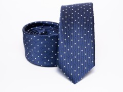 Prémium selyem selyem nyakkendő - Kék pöttyös Selyem nyakkendők