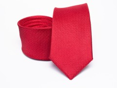 Prémium selyem selyem nyakkendő - Piros Selyem nyakkendők