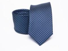 Prémium selyem selyem nyakkendő - Kék aprópöttyös Selyem nyakkendők