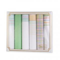 Női ajándék zsebkendő szett - 6 db Zsebkendők
