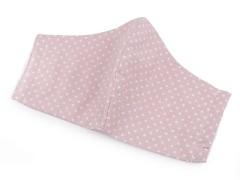 Elasztikus pamut szájmaszk - Rózsaszín Egészségügyi maszkok