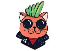 Fa bross 3D - Macska Gyerek hajdísz, ékszer
