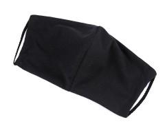 Elasztikus pamut szájmaszk - Fekete Egészségügyi maszkok