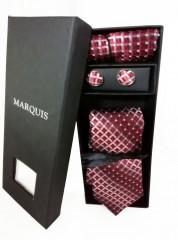 Marquis nyakkendő szett - Bordó mintás Nyakkendők