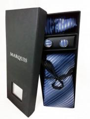 Marquis nyakkendő szett - Kék mintás Szettek
