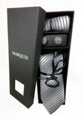 Marquis nyakkendő szett - Szürke mintás Szettek