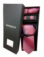 Marquis nyakkendő szett - Bordó mintás Szettek