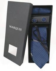 Marquis nyakkendő szett - Sötétkék mintás Szettek