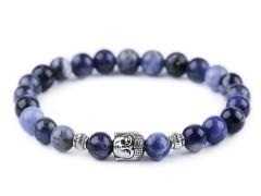 Férfi Budha ásvány karkötő - Kék Férfi ékszer