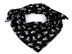Pamutkendő kalóz - Fekete Férfi kesztyű, sál