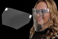 Arcvédő plexi csípesszel Egészségügyi maszkok