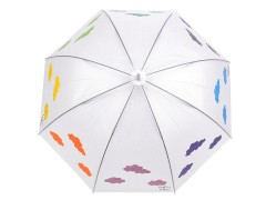Női kilövős esernyő varázslatos felhőkkel Női esernyő,esőkabát
