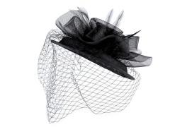 Kalap virág gyöngyökkel és francia fátyollal Női kalap, sapka