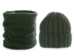 Férfi téli sapka és nyakmelegítő szett - Keki Férfi kalap, sapka