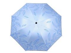 Női összecsukhatós esernyő levél mintás - Kék Női esernyő,esőkabát