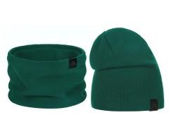 Téli sapka és nyakmelegítő szett - Zöld Női kalap, sapka
