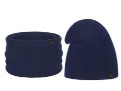 Téli sapka és nyakmelegítő szett - Sötétkék Férfi kalap, sapka