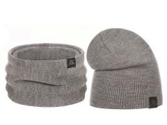 Téli sapka és nyakmelegítő szett - Bézs Férfi kalap, sapka