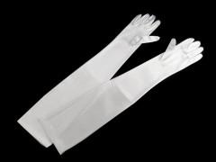 Alkalmi szatén kesztyű 60 cm - Fehér Női kesztyű