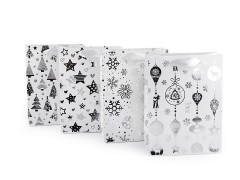 Ajándék táska karácsonyi kicsi - 4 db Ajándék csomagolás