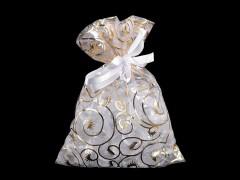 Ajándék zsákocska 13x18 cm organza Ajándék csomagolás