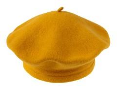 Női gyapjú barett sapka - Mustár Női kalap, sapka