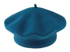 Női gyapjú barett sapka - Olajkék Női kalap, sapka