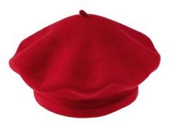 Női gyapjú barett sapka - Piros Női kalap, sapka