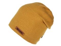 Unisex sapka lurexel - Mustár Női kalap, sapka