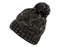 Női téli sapka bojttal Női kalap, sapka