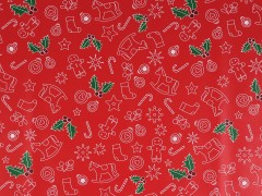 Karácsonyi csomagoló papir 200x70cm - Piros Ajándék csomagolás