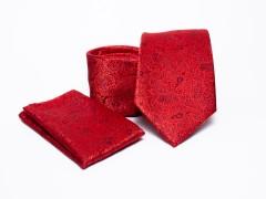 Prémium nyakkendő szett - Piros mintás Mintás nyakkendők