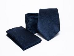 Prémium nyakkendő szett - Sötétkék mintás Normál nyakkendő