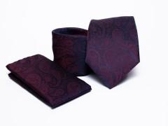 Prémium nyakkendő szett - Lila mintás Normál nyakkendő