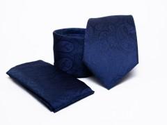 Prémium nyakkendő szett - Sötétkék mintás Mintás nyakkendők