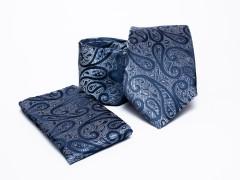 Prémium nyakkendő szett - Kék mintás Normál nyakkendő