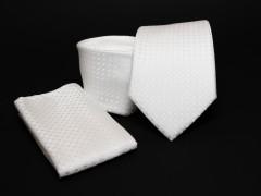 Prémium nyakkendő szett - Fehér mintás Normál nyakkendő