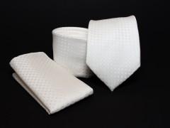 Prémium nyakkendő szett - Ecru mintás Normál nyakkendő