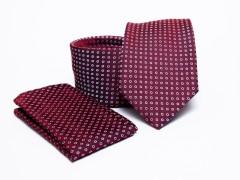 Prémium nyakkendő szett - Bordó pöttyös Normál nyakkendő