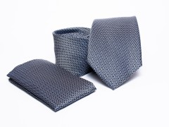 Prémium nyakkendő szett - Kék pöttyös Normál nyakkendő