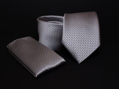Prémium nyakkendő szett - Ezüst pöttyös Normál nyakkendő