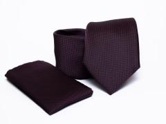 Prémium nyakkendő szett - Burgundi Normál nyakkendő