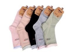Női férfi zokni egészségügyi szegővel - 5 db Női zoknik, harisnyák