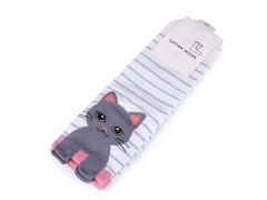 Gyerek zokni macska - Fehér Gyermek zokni, mamusz