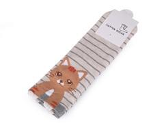 Gyerek zokni macska - Nyers Gyermek zokni, mamusz