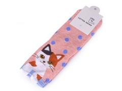 Gyerek zokni macska - Rózsaszín Gyermek zokni, mamusz