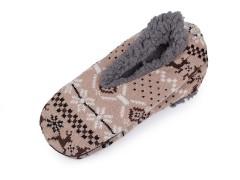 Férfi téli házi cipő csúszásgátlóval Férfi zoknik, mamuszok