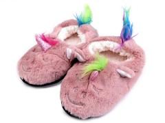 Gyermek egyszarvú otthoni cipő - Púder Gyermek zokni, mamusz